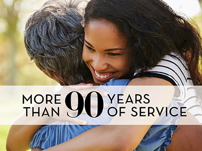 more than 90 years of service